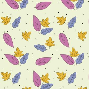 Fundo, com, folhas, de, outono
