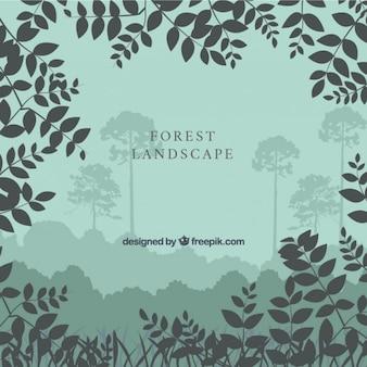 Fundo com folhas silhuetas
