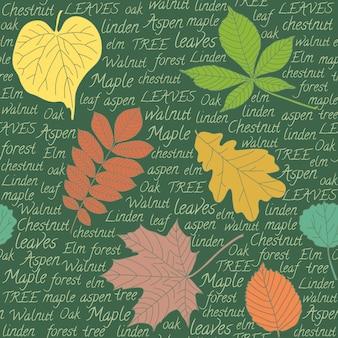 Fundo com folhas