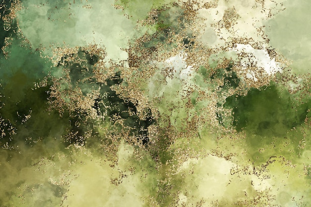 Fundo com glitter verde aquarela