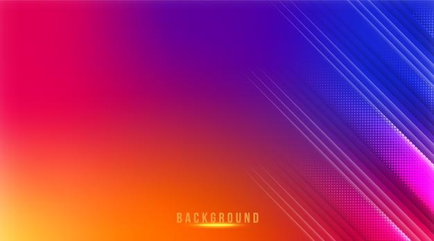 Fundo com gradiente abstrato de cor do instagram