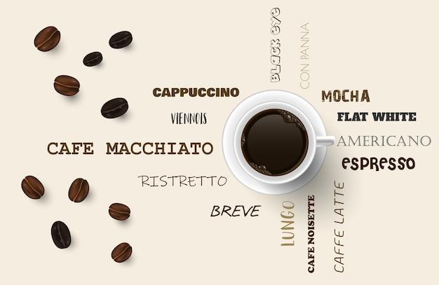 Fundo com grãos de café.