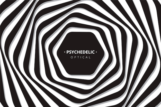 Fundo com ilusão de ótica psicodélica