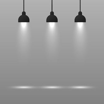Fundo com lâmpada de iluminação.