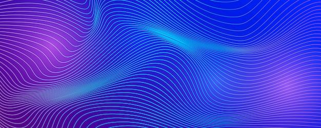 Fundo com linhas abstratas de onda.