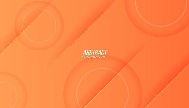 Fundo com linhas abstratas formas geométricas e sombra na cor laranja pêssego