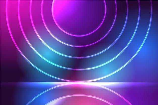 Fundo com luzes de neon e formas