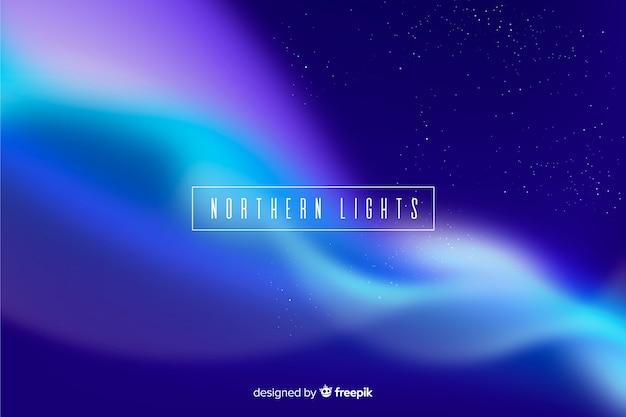 Fundo com luzes do norte coloridas