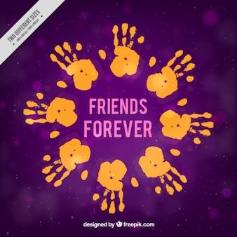 Fundo com mãos de amigos