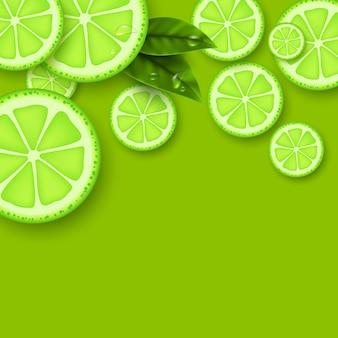 Fundo com moldura verde limão