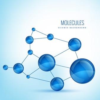 Fundo com moléculas formas