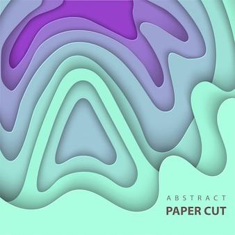 Fundo com neon lilás e corte de papel turquesa