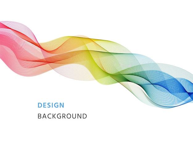 Fundo com ondas. bandeira ondulada abstrata. papel de parede de mistura futurista. folheto de gradiente moderno. ilustração