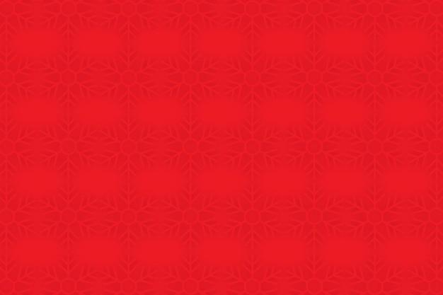 Fundo com padrão de floco de neve vermelho