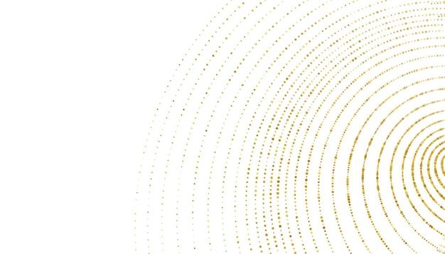 Fundo com padrão de redemoinho de meio-tom dourado brilhante