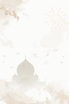 Fundo com padrão do festival diwali