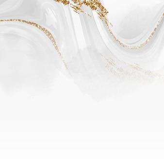 Fundo com padrão fluido branco e dourado