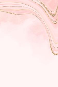 Fundo com padrão fluido dourado e rosa