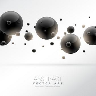 Fundo com partículas de moléculas pretas
