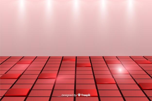 Fundo com piso cubos realista