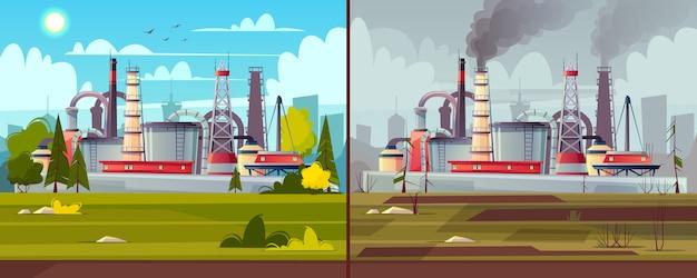 Fundo com poluição ambiental