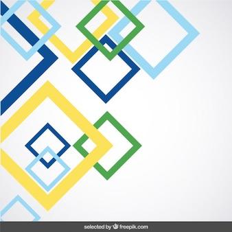 Fundo com quadrados coloridos descritas