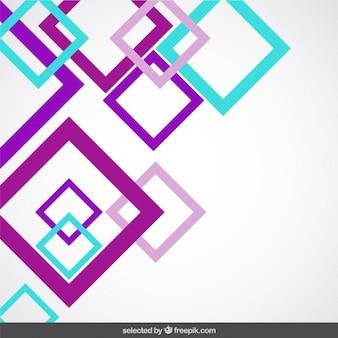 Fundo com quadrados roxo e azul-turquesa