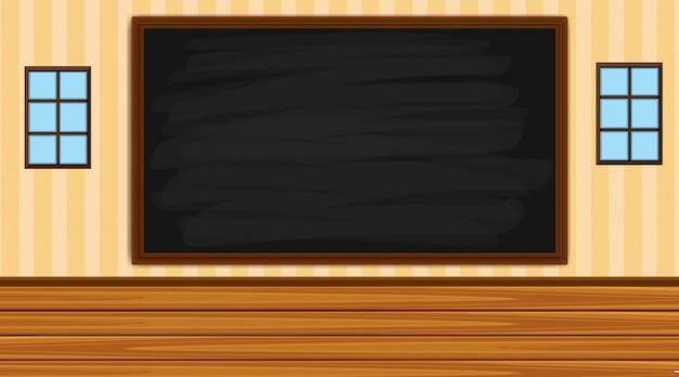 Fundo com quadro-negro na sala