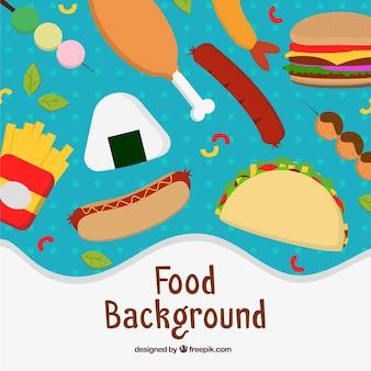 Fundo com refeições diferentes