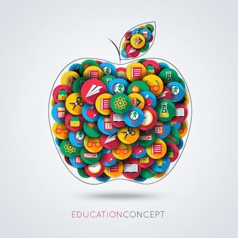 Fundo com símbolos da educação