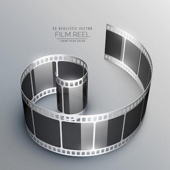 Fundo com tira da película 3d