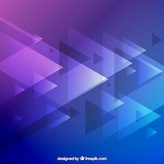 Fundo com triângulos em tons roxos e azuis