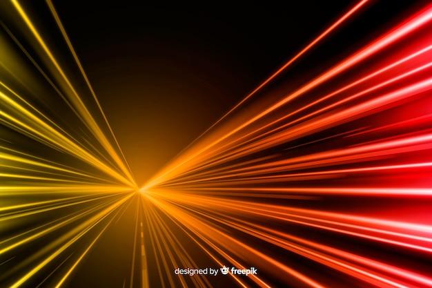 Fundo com trilha de luzes de alta velocidade