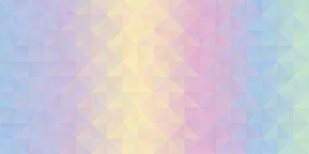 Fundo com um design de baixo poli de arco-íris em tons pastel