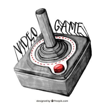 Fundo com um joystick desenhada à mão