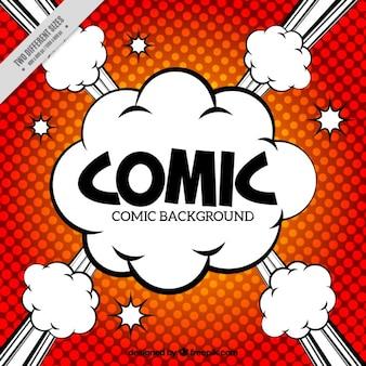 Fundo comic no estilo do pop art