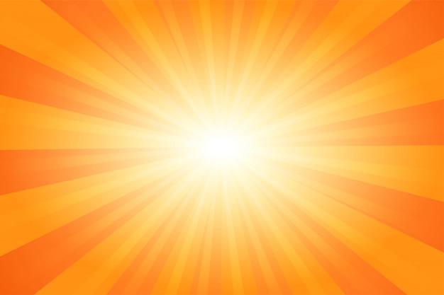 Fundo cômico da luz solar dos desenhos animados do sumário alaranjado do verão.