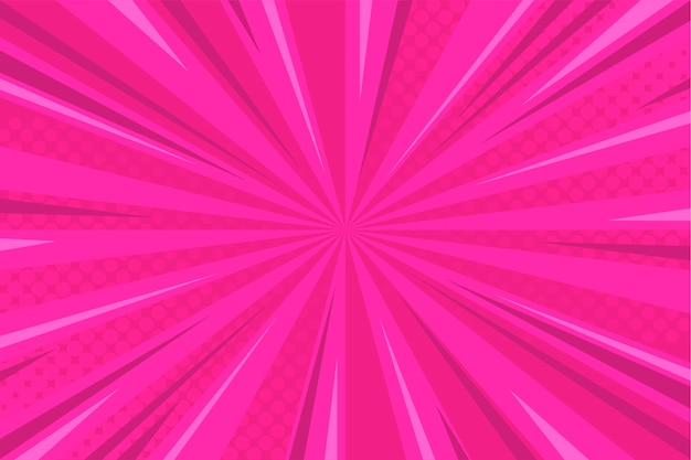 Fundo cômico-de-rosa com meio-tom