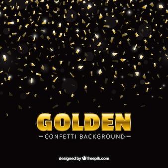 Fundo confetti em estilo dourado