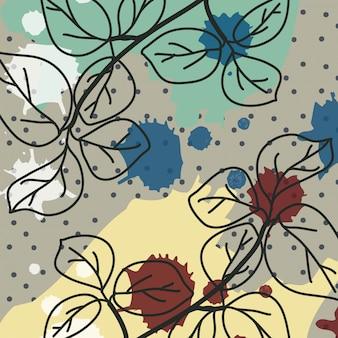 Fundo contemporâneo com flores