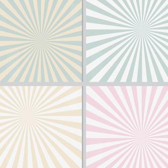 Fundo coordenado polar da luz do sol retro pastel