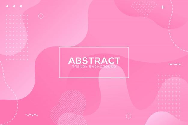 Fundo cor-de-rosa na moda líquido abstrato dinâmico da gradação da cor