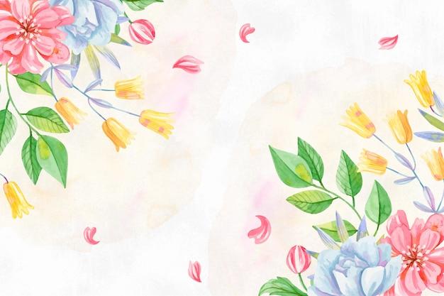 Fundo cores pastel aquarela flores