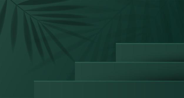 Fundo cosmético para marca de produto e geometria de apresentação de embalagem em moldagem quadrada