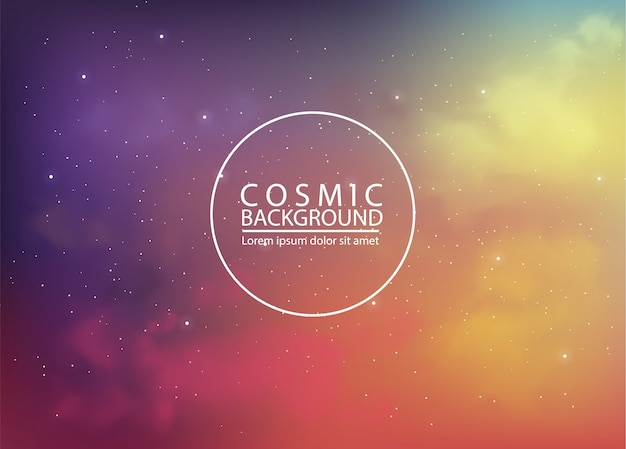 Fundo cósmico com cores abstratas