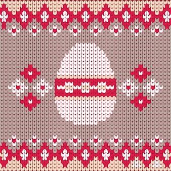 Fundo costurado de ovo de páscoa