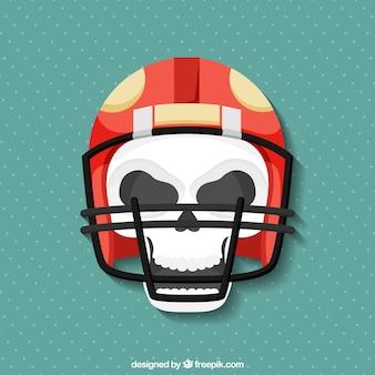 Fundo crânio com capacete dos esportes