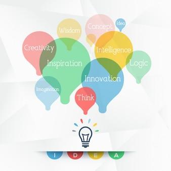 Fundo creativo com lâmpadas coloridas