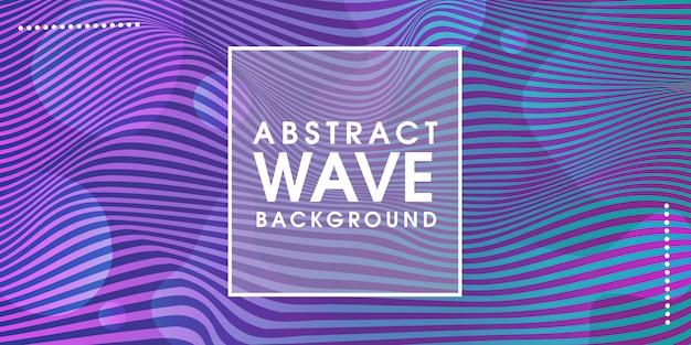 Fundo criativo abstrato onda azul