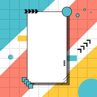 Fundo criativo borda geométrica irregular minimalista.